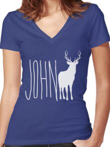 Life is strange John Deer Women's Fitted V-Neck T-Shirt