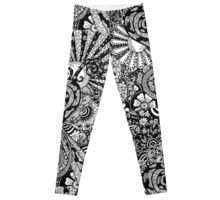 Flowers and Hearts Leggings