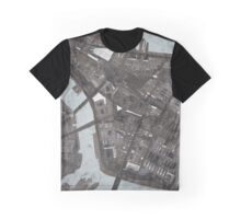 Abstract Map of Lower Manhattan Graphic T-Shirt
