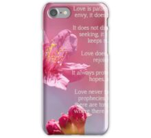 1 Corinthians 13 Love is iPhone Case/Skin