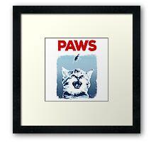 Kitty Jaws Framed Print
