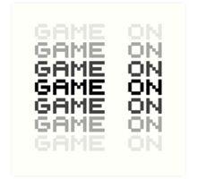Game On Gaming Geek Video Games PC Playstatopn XBox Art Print