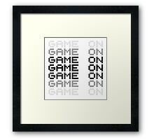 Game On Gaming Geek Video Games PC Playstatopn XBox Framed Print