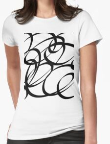 Calligraphy  Womens Fitted T-Shirt