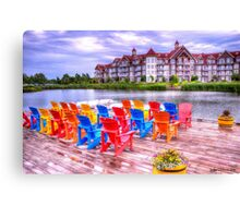 The dock at Blue Mountain Canvas Print