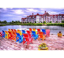 The dock at Blue Mountain Photographic Print