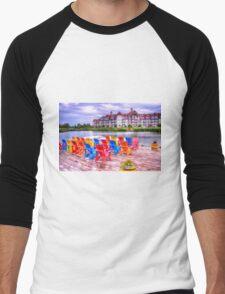 The dock at Blue Mountain Men's Baseball ¾ T-Shirt