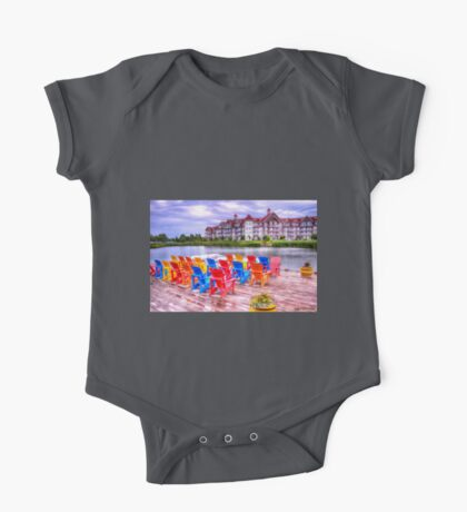 The dock at Blue Mountain One Piece - Short Sleeve