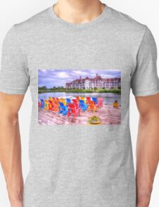 The dock at Blue Mountain Unisex T-Shirt