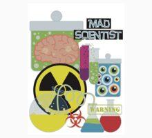 Mad Scientist Sciene Theme Kids Tee