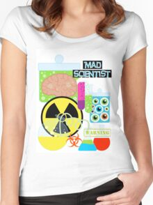Mad Scientist Sciene Theme Women's Fitted Scoop T-Shirt
