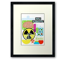 Mad Scientist Sciene Theme Framed Print