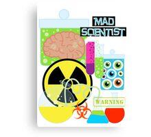 Mad Scientist Sciene Theme Canvas Print