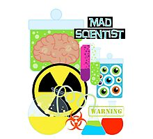 Mad Scientist Sciene Theme Photographic Print