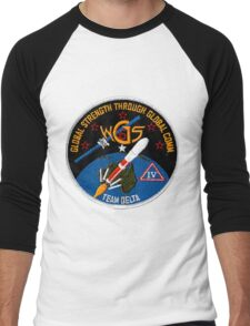 WGS-6 Launch Team Logo Men's Baseball ¾ T-Shirt