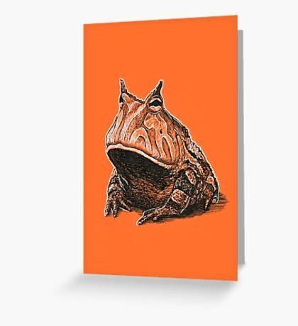 Orange Frog Greeting Card