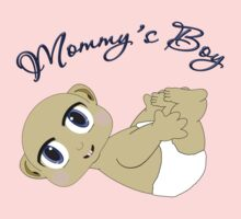 Mommy's Boy Bald and Blue Eyes One Piece - Long Sleeve