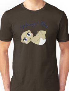 Mommy's Boy Bald and Blue Eyes Unisex T-Shirt