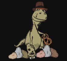Cartoon Tyrannosaurus Dinosaur Explorer  One Piece - Short Sleeve