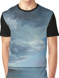 Storm, interrupted, a view of Crail with ash cloud from volcanic eruption Graphic T-Shirt