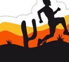 race out jogging relay race sport desert evening night sunset sunrise kakten cactus hot hot Sticker