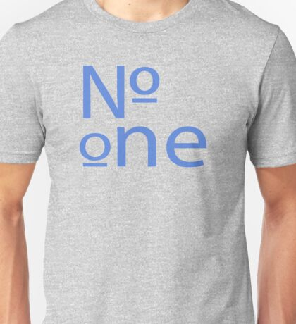 """""""Number One"""" typography Unisex T-Shirt"""