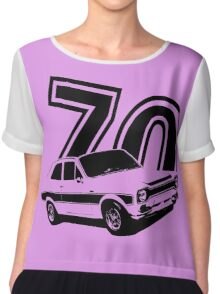 Escort 70' Retro Classic Cars Men's T-shirt Chiffon Top