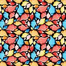 Seamless graphic pattern seashells by Tanor