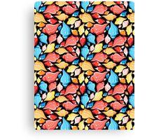 Seamless graphic pattern seashells Canvas Print