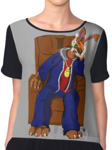 Gangster Rabbit smoking cigar Chiffon Top