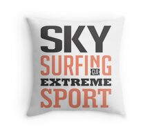 Sky Surfing Extreme Sport Throw Pillow