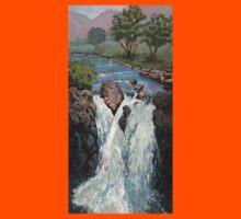 Waterfall in the Scottish Highlands near Glencoe Kids Tee