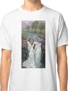 Waterfall in the Scottish Highlands near Glencoe Classic T-Shirt