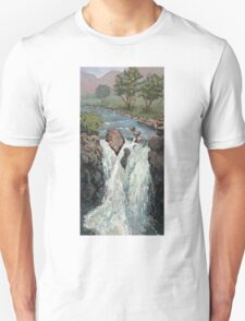 Waterfall in the Scottish Highlands near Glencoe Unisex T-Shirt