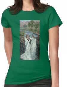 Waterfall in the Scottish Highlands near Glencoe Womens Fitted T-Shirt
