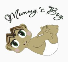 Mommy's Boy Brown Hair and Green Eyes One Piece - Long Sleeve
