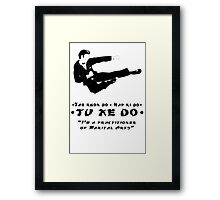 Tu Xe Do - The Marital Art Framed Print