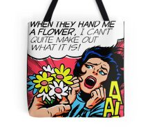 Knives and Flowers Tote Bag