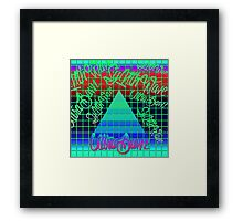 "Synthwave Graffiti, ""UltraBawz"" Design (NEON Version) Framed Print"