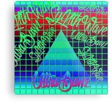 "Synthwave Graffiti, ""UltraBawz"" Design (NEON Version) Metal Print"