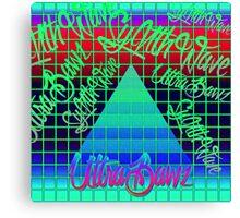 "Synthwave Graffiti, ""UltraBawz"" Design (NEON Version) Canvas Print"