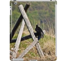 Crow on a fence iPad Case/Skin