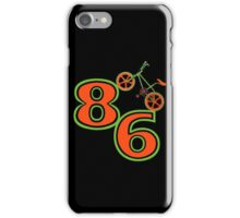 1986 Retro BMX Bike T-shirt. iPhone Case/Skin