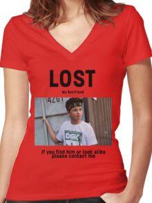 Lost Boyfriend: Jacob Sartorius (White Version) Women's Fitted V-Neck T-Shirt