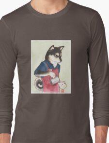Barista Shiba Long Sleeve T-Shirt