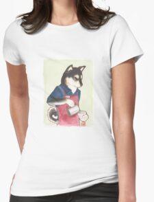 Barista Shiba Womens Fitted T-Shirt