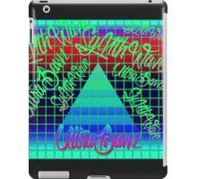 "Synthwave Graffiti, ""UltraBawz"" Design (NEON Version) iPad Case/Skin"