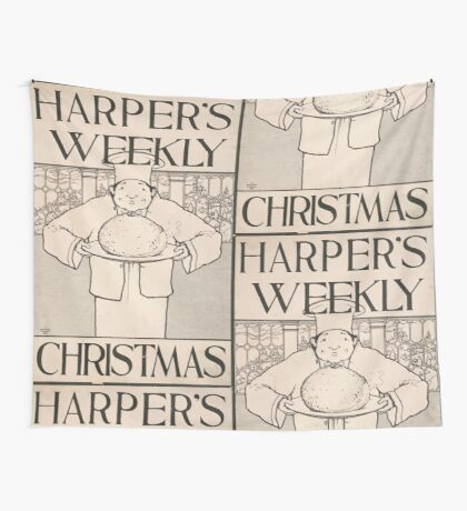 Artist Posters Harper's Weekly for Christmas 0773 Wall Tapestry