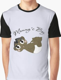 Mommy's Boy Black Hair and Brown Eyes Graphic T-Shirt