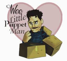 Wee little puppet man Kids Tee